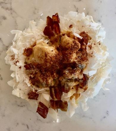 Coconut dates and tahini